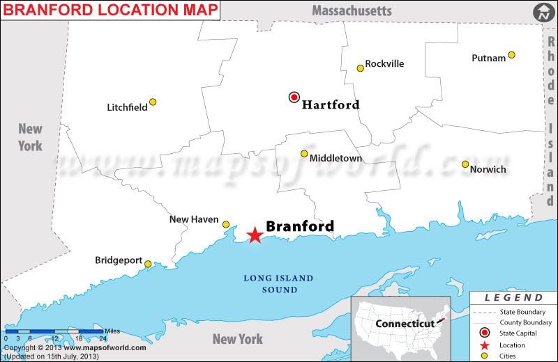 Where is Branfort located in Connecticut
