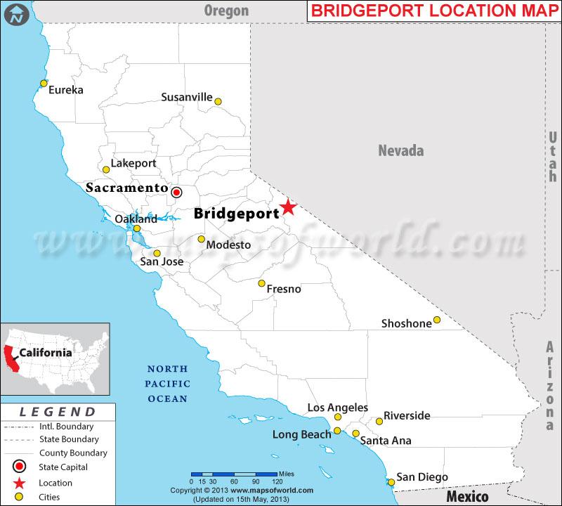 Where is Bridgeport located in California