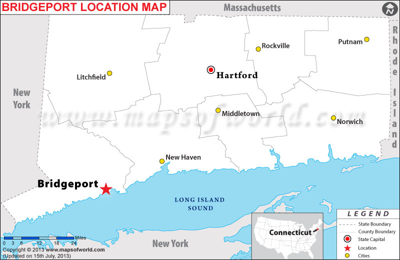 Where is Bridgeport located in Connecticut