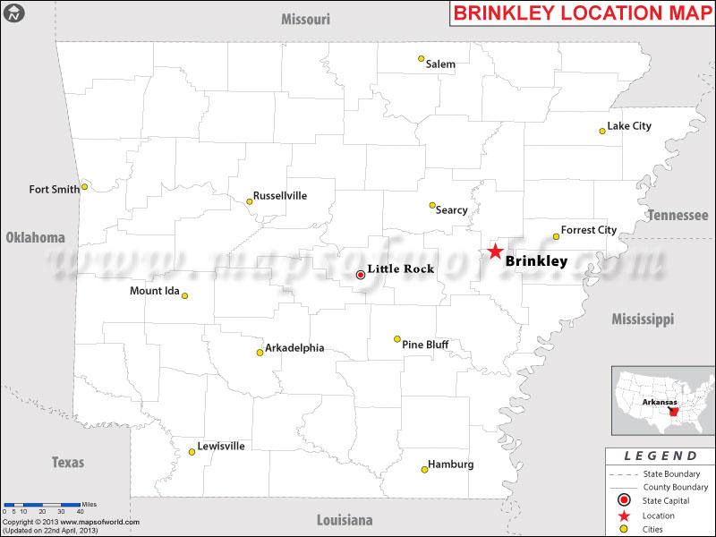 Where is Brinkley, Arkansas