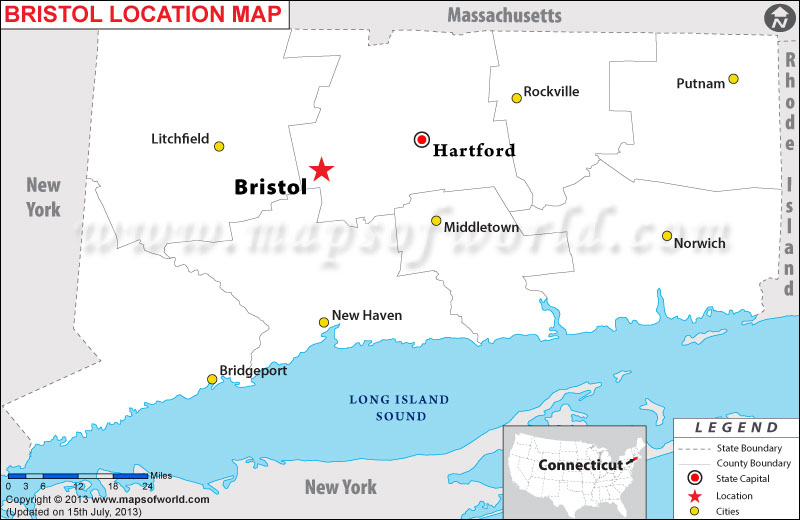 Where is Bristol located in Connecticut
