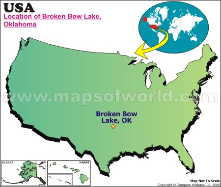 Location Map of Broken Bow Lake, USA