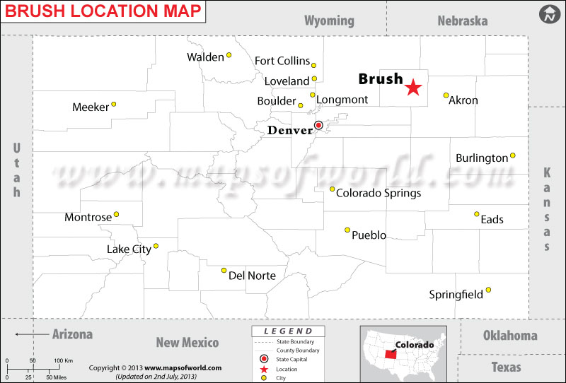 Where is Brush located in Colorado
