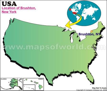 Location Map of Brushton, USA