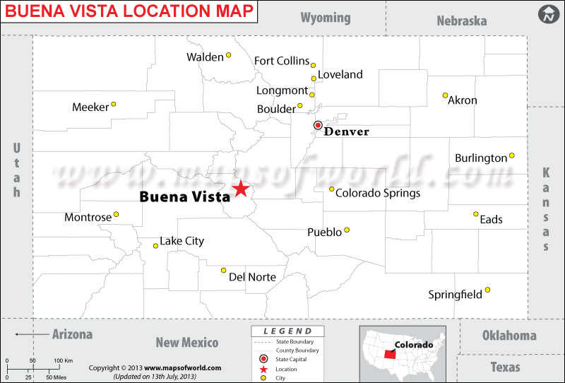 Where is Buena Vista located in Colorado