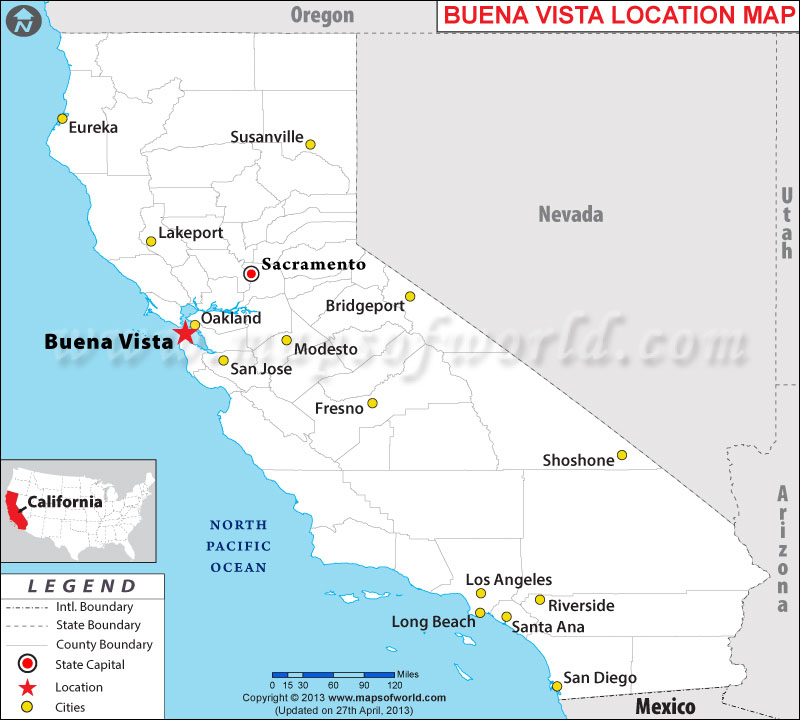 Where is Buena Vista, California