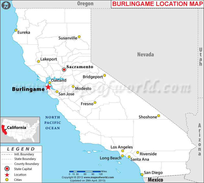 Where is Burlingame, California