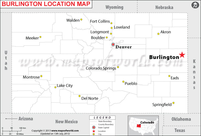 Where is Burlington located in Colorado