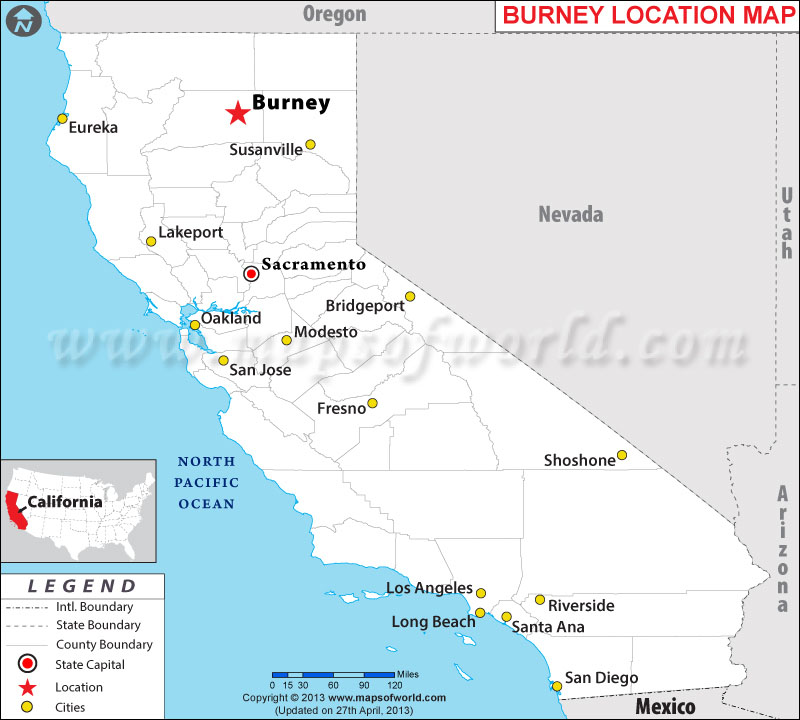 Where is Burney, California
