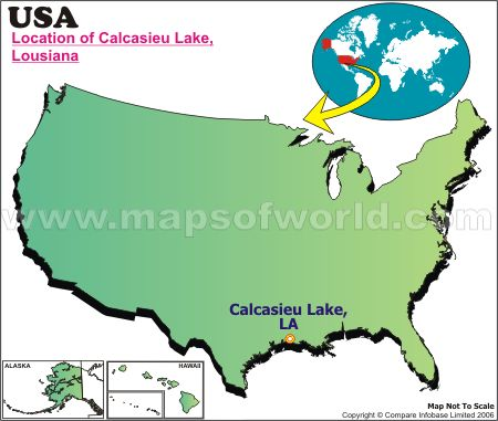 Location Map of Calcasieu L., USA