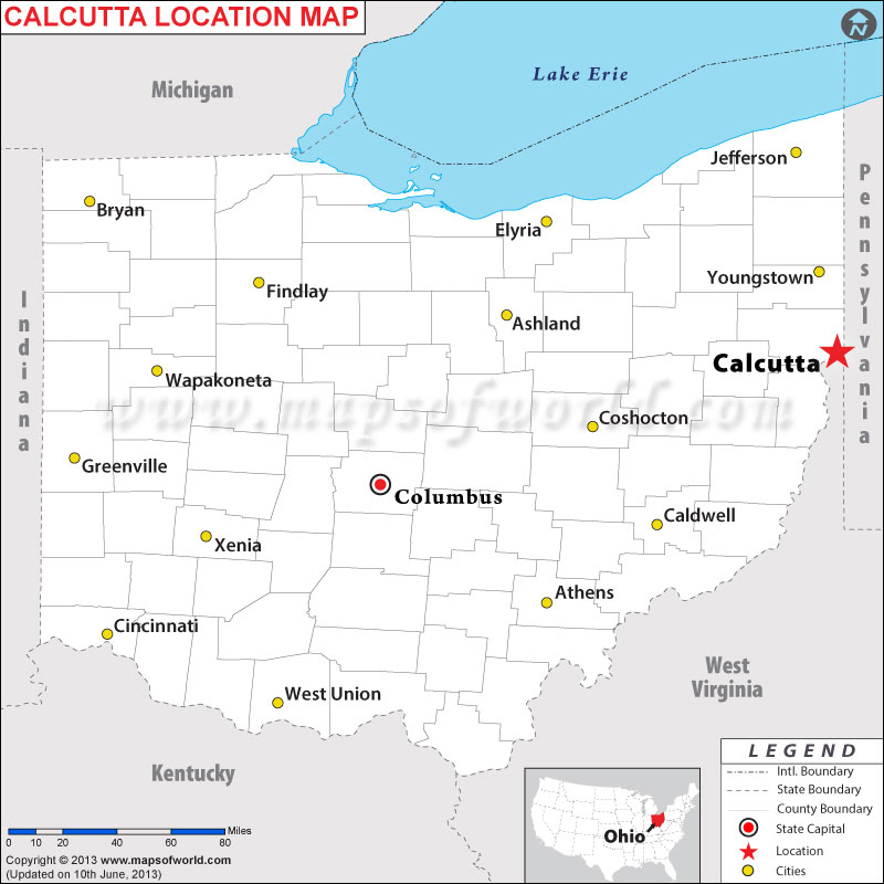 Where is Calcutta, Ohio