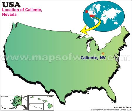 Location Map of Caliente, USA