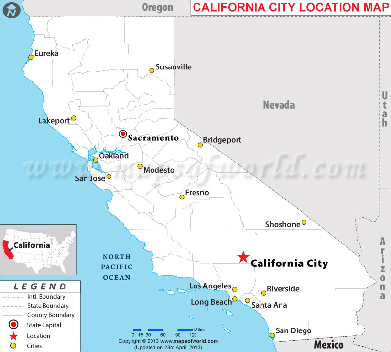 Is California City California - California city maps