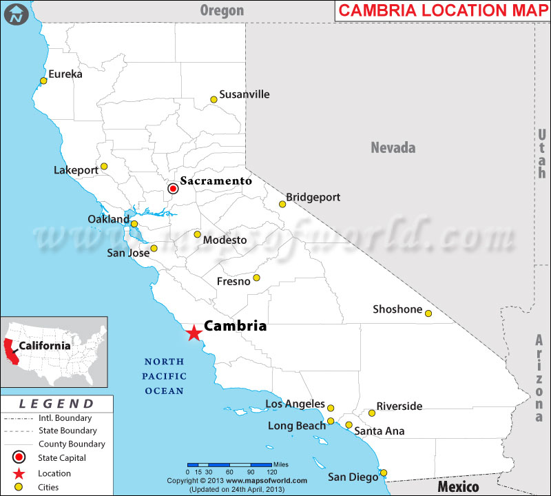 Where is Cambria, California