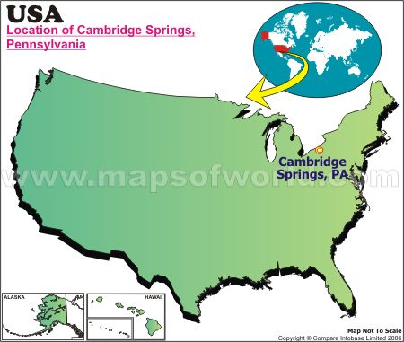Location Map of Cambridge Springs, USA