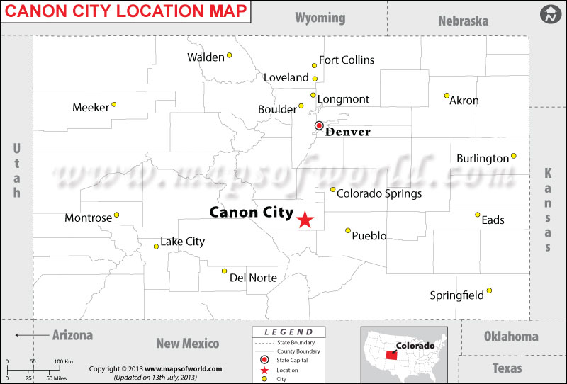 Where is Canon City located in Colorado
