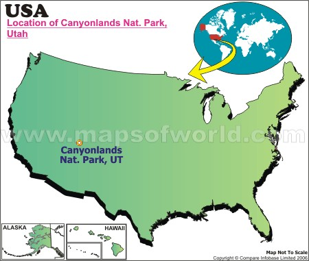 Location Map of Canyonlands Nat. Park, USA
