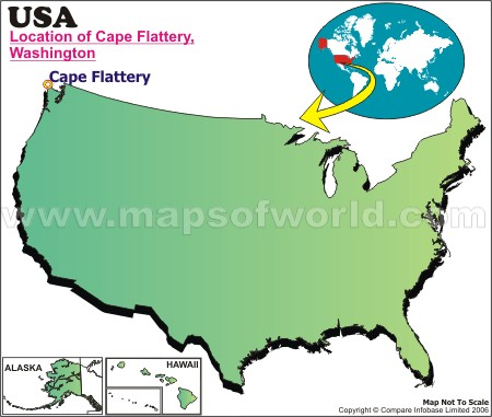 Location Map of Flattery, C., USA