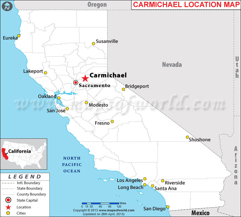 Where is Carmichael, California