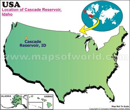 Location Map of Cascade Reservoir, USA
