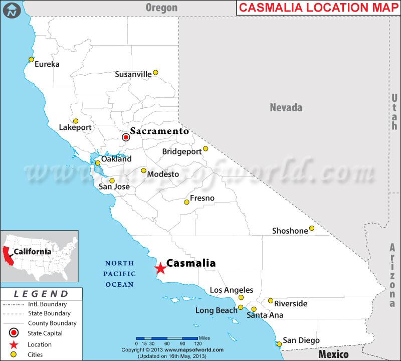 Where is Casmalia located in California