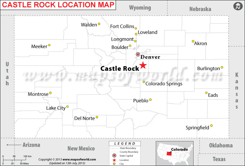 Castle Rock Colorado Map Www Naturalrugs Store