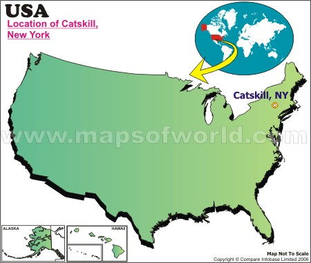 Location Map of Catskill Mts., USA