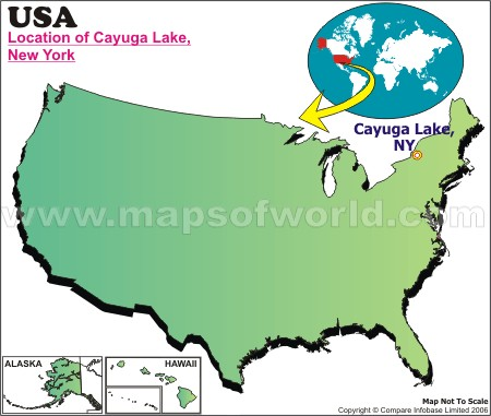 Location Map of Cayuga L., USA