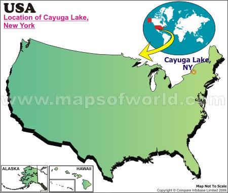Location Map of Cayuga L., USA