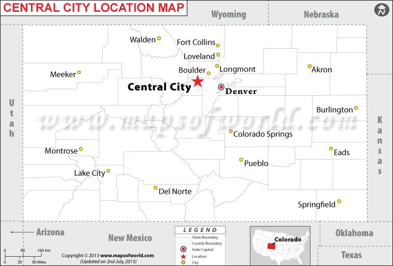Where is Central City located in Colorado