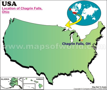 Location Map of Chagrin Falls, USA