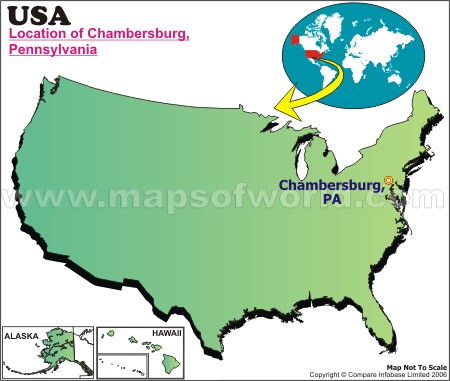 Location Map of Chambersburg, USA