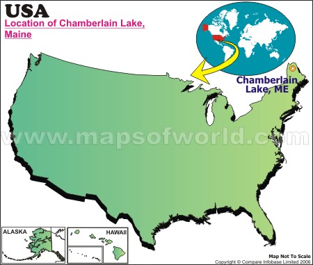 Location Map of Chamberlain L., USA