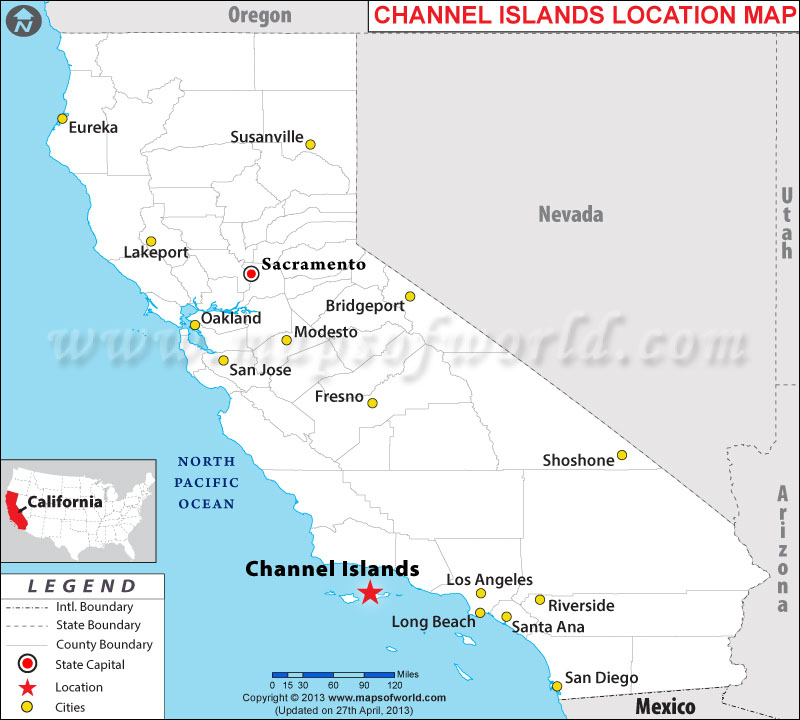 Channel Islands Location Map