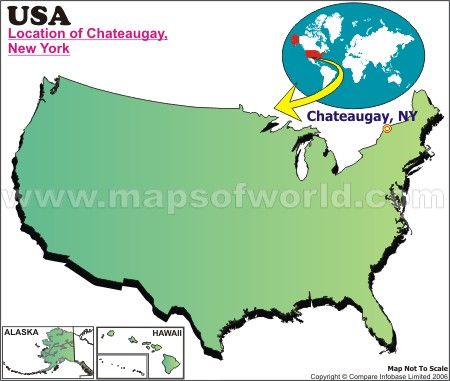 Location Map of Chateaugay, USA