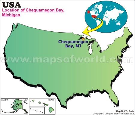 Location Map of Chequamegon B., USA