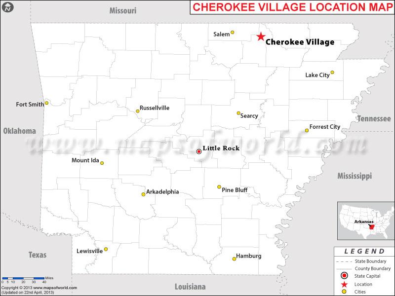 Where is Cherokee Village, Arkansas