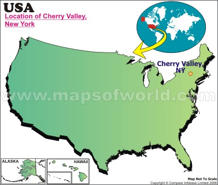 Location Map of Cherry Valley, N.Y., USA