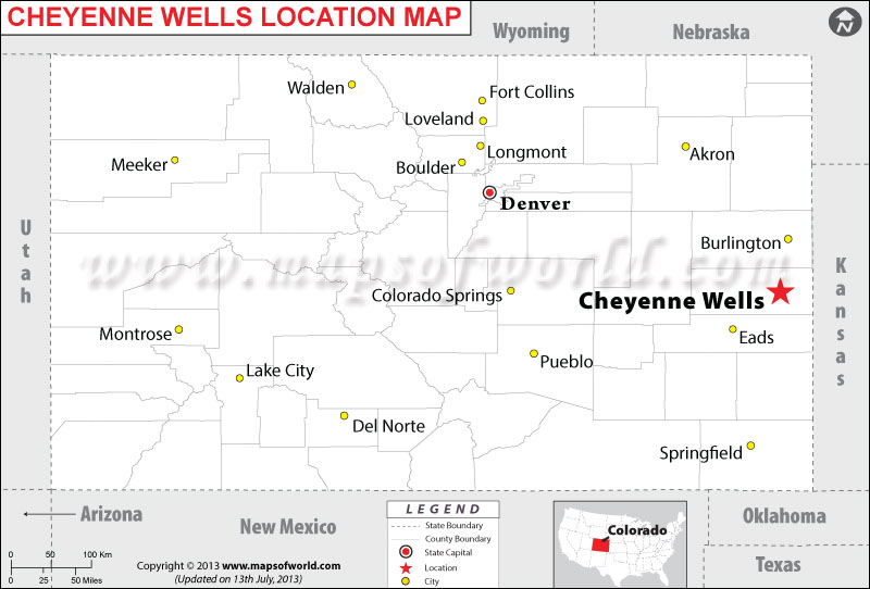 Where is Cheyenne Wells located in Colorado