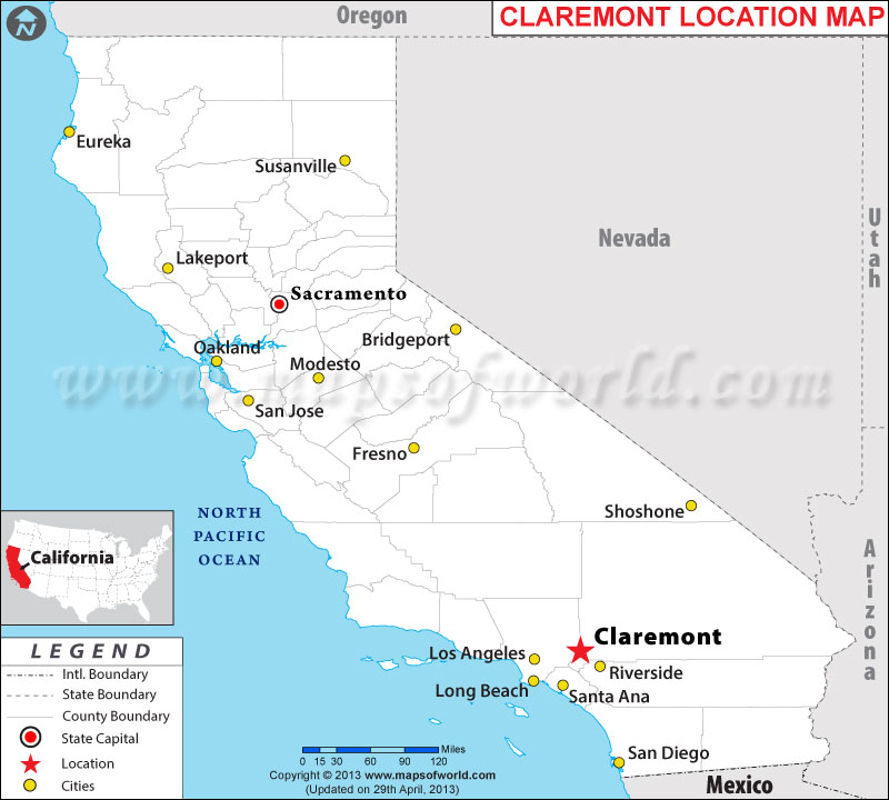 Where is Claremont, California