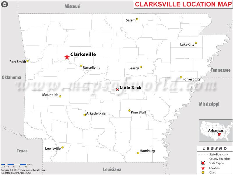 Where is Clarksville, Arkansas
