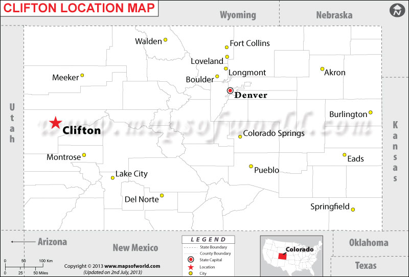Where is Clifton located in Colorado