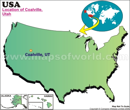 Location Map of Coalville, USA