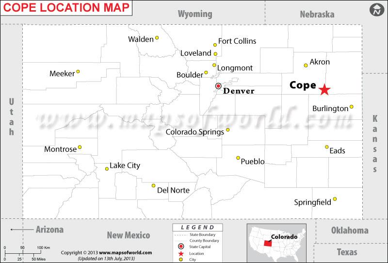 Where is Cope located in Colorado