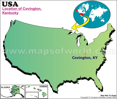 Location Map of Covington, Okia., USA