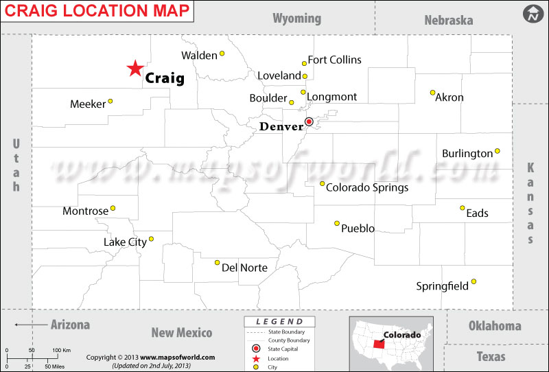 Where is Craig located in Colorado