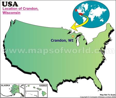 Location Map of Crandon, USA