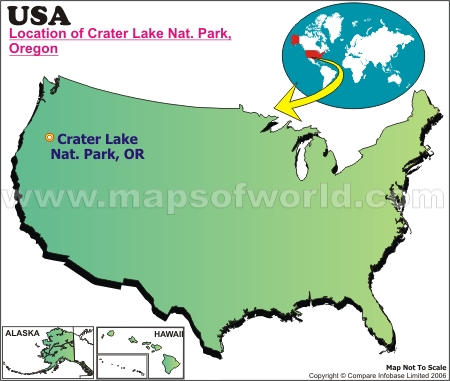 Location Map of Crater L., USA