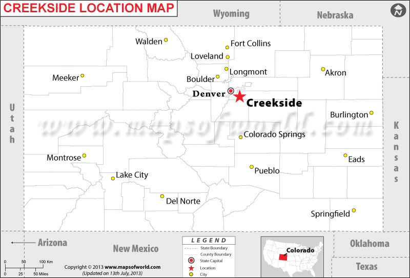 Where is Creekside located in Colorado