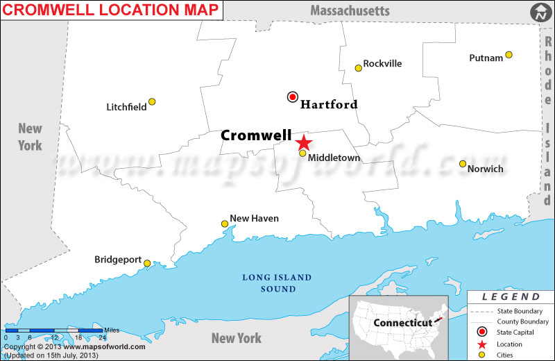 Where is Cromwell located in Connecticut